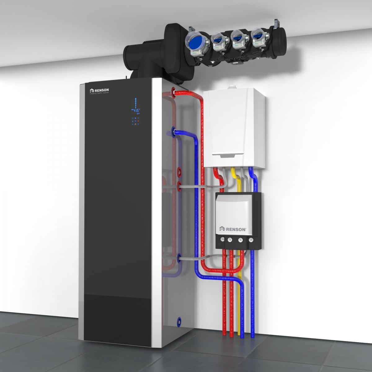 syst me de ventilation coupl une pompe chaleur maheux. Black Bedroom Furniture Sets. Home Design Ideas